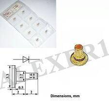 1x 3A739A GaAs Schottky IMPATT Oscillator diode 8...9.2 GHz 4.5W USSR