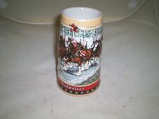 "Cermarte Budweiser 1988 ""Clydesdales Hitch"" 6.5"" Handcrafted Porcelain Stein"