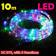 Led rope party lights ebay 10m 240 leds rope lights multi color 8 functions outdoor christams wedding party mozeypictures Images