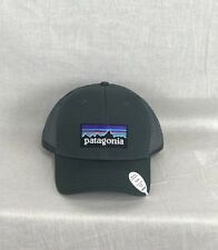 NEW PATAGONIA P6 LOGO TRUCKER HAT FORGE GREY FAST SHIP LOPRO CAP SNAP BACK
