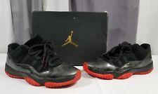 Nike Air Jordan 11 Retro Low Black Red Metallic Silver 528895-010 Size 8.5