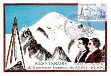 France (Bicentenaire de la premiere ascnsion du mont blanc) 1986  carte