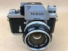 Nikon F 1969 Vintage Film Camera w/50mm F/1.4 Nikkor-S FTN #6918225 - NICE