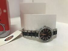 NEW ARRIVAL! FOSSIL VIRGINIA ROSE GOLD-TONE BLACK GRAY DIAL BRACELET WATCH $125
