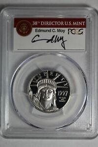 1997 W Platinum Eagle $50 1/2 OZ PCGS PR70DCAM Moy