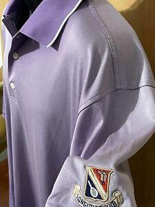 FootJoy Mens Golf Polo Shirt Size XL Purple Lavender 👍 Longuevue CC