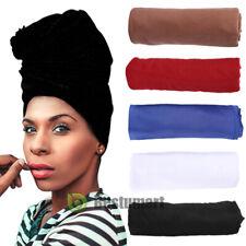 Women's Turban Stretch Knit Head Wrap Cap Hair Jersey Scarf Tie Chemo African