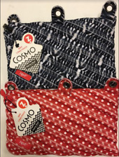 ZIPIT Cosmo 3 Ring Binder Pouch, Lot of 2, Zebra & Red w/ White Polka Dots