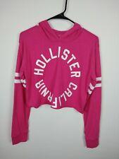 Hollister Women's Pink Crop Pullover Hoodie Long Sleeve Size S