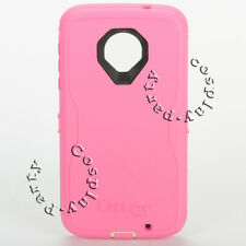 Otterbox Defender Case For Motorola Moto Z Force Droid Edition (Pink/Black) New