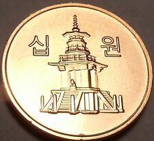 Gem Brilliant Unc South Korea 2011 10 Won~Pagoda at Pul Guk Temple~Free Shipping