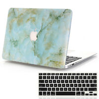 Green Marble Hard Case + Keyboard Skin For Macbook Air Pro 11 12 13 15'' &Retina