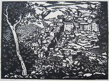 San Vito Romano. original-legno taglio woodcut by E.M. o 'R. Dickey Lazio Rom