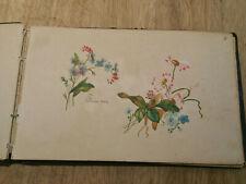 Superbe album avec 28 dessins originaux, signé, 1890. A VOIR !