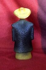 Kosta Boda Kjell Engman Catwalk Sculpture Man in Green Poncho Sweden Art Glass