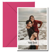 Personalised Valentines Day Card ANY PHOTO ANY TEXT Photo Card RM53