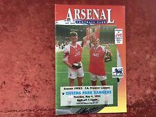 Arsenal v Q.P.R. 4 May 1993 Mint Free Post