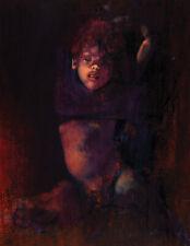 Graham Ovenden Portrait of A Girl Original Oil on Board 1966