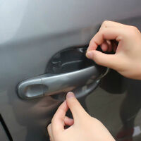 Hot 4Pcs Car Vinyl Handle Door Invisible Protector Films Scratches Sticker Style