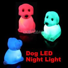 Color ChangingCute Puppy Dog LED Night LightLamp Home Party Decor Kid Gift Toy