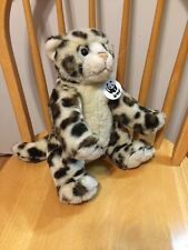 "Build A Bear WWF Cat Meows Stuffed Animal Plush Soft 14"" Sitting"