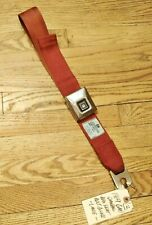 GM 1968-1973 Cadillac Buick RED Seat Belt (Female Buckle Only) Convertible 1969