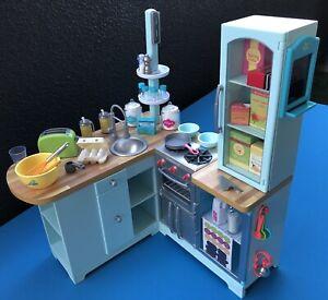 "LOT 5Pcs American Girl Bread /& tray kitchen Farmhouse accessories For 18/"" dolls"