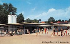 SANDUSKY OH 1961 Outside Scene Near Bathing Beach @ Cedar Point on Lake Erie GEM