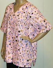 Cottonality Polka Dot Snap Button Scrubs XLG 1X