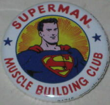 """Retro Superman """"Muscle Building Club""""  Pin Licensed by DC Comics 1.25"""""""