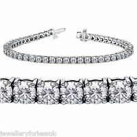 18Carat White Gold Diamond Tennis Bracelet 4-Claw 5.00cts 7.25 Inches Hallmarked