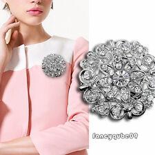 Wonderful Wedding Bridal Silver Rhinestone Crystal Brooches Brooch For Women Men
