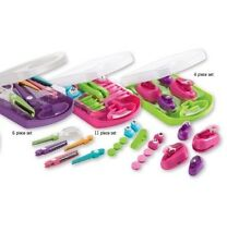 3x Sets,Crelando Paper Punch And Stamp Set,pattern Scissor Set.