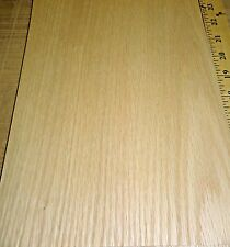 """Red Oak wood veneer 8"""" x 10"""" with paper backer sample size sheet 1/40th"""" thick"""