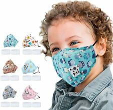 Face Mask Washable Reusable Cloth Printed Children and Adjustable Earloop