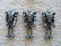 LEGO Star Wars - 3 Rare Cannon Armed Super Battle Droids - Excellent