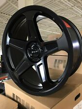 "4  Dodge Demon 20"" Staggered Wheels Satin Black OE  20x9 20x10.5 Challenger"