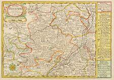 SACHSEN-ANHALT - AMT WEIßENFELS - Schreiber - kolorierter Kupferstich 1749