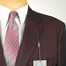42R STEVE HARVEY Solid Burgundy Suit - 42 Regular Mens Suits - SH02
