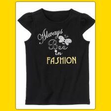 NWT girls 7 Gymboree BEE CHIC black Cotton SHIRT TOP rhinestones Always Fashion