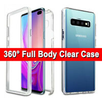 360 Full Front+Back Case Samsung Galaxy S9 S10 Plus S10E Hybrid Clear Slim Cover
