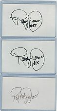 (3) RANDY JONES INDEX CARD SIGNED 1976 NL CY YOUNG SD PADRES PSA/DNA CERTIFIED