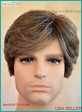 Men's Wig  Color 44 Salt and Pepper New Man Wig Men 1193