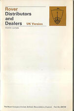 Rover Distributors & Dealers original Booklet, 1970 4th edition Pub. No 605725