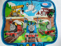 "Thomas The Tank Engine Interactive Play Mat & Percy Train Bundle Mat Size 35x35"""