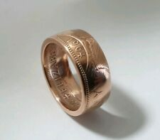 Copper Penny 1967 Coin Ring Size 'T' 9mm Wide Band. Hand Crafted