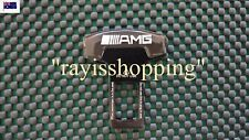 Mercedes Benz AMG BLACK ALLOY METAL Seat Belt Buckle Stopper, Plug Clip Vehicle