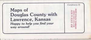 1985 Map Of Douglas County Kansas Brochure