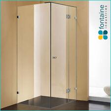 Frameless Shower Screen 900 Panels Tough 10mm Safety Glass AU Standard