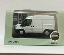 OXFORD DIECAST FROZEN WHITE FORD TRANSIT VAN M/ROOF 1:76 SCALE 76FT001